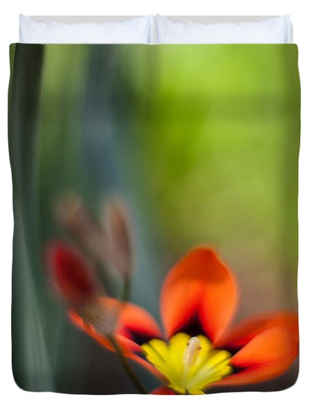 Flora Counterpoint Duvet Cover by Mike Reid
