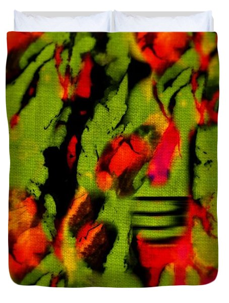 Floral Arrrangement Abstract Duvet Cover by John Malone