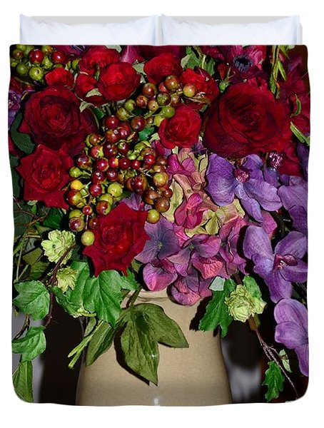Floral Decor Duvet Cover by Kathleen Struckle
