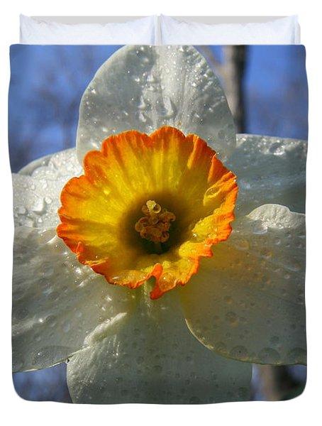 Floral Dew  Duvet Cover by Neal  Eslinger