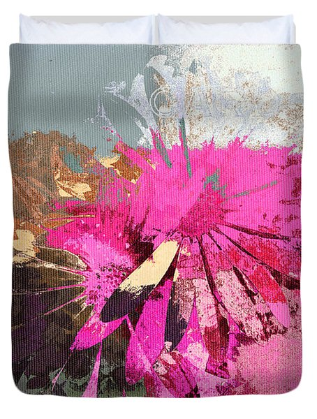 Floral Fiesta - s33ct01 Duvet Cover by Variance Collections