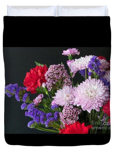 Floral Mix Duvet Cover by Ann Horn