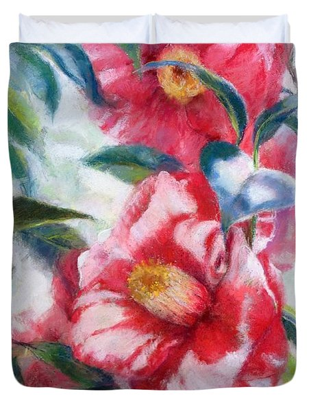 Floral Print Duvet Cover by Nancy Stutes