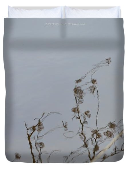 Floral Reflection Duvet Cover by Sonali Gangane