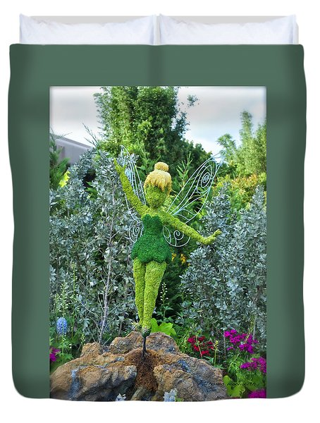 Floral Tinker Bell Duvet Cover by Thomas Woolworth