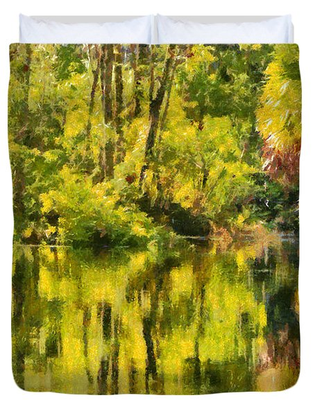 Florida Jungle Duvet Cover by Christine Till