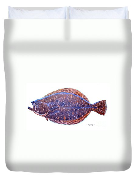 Flounder Duvet Cover by Carey Chen