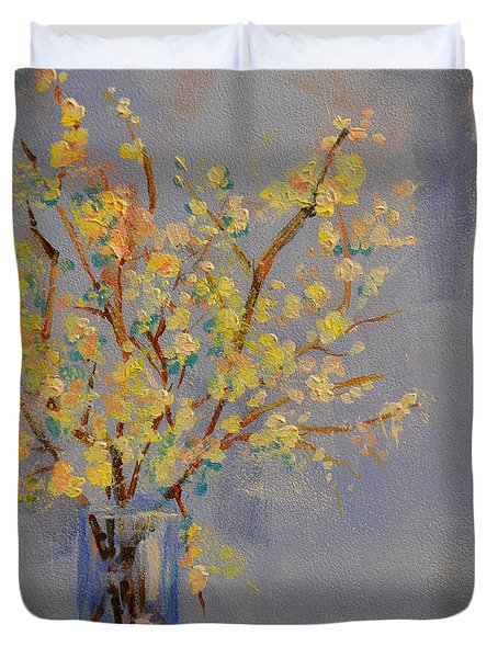 Flower arrangement exotic  Duvet Cover by Patricia Awapara