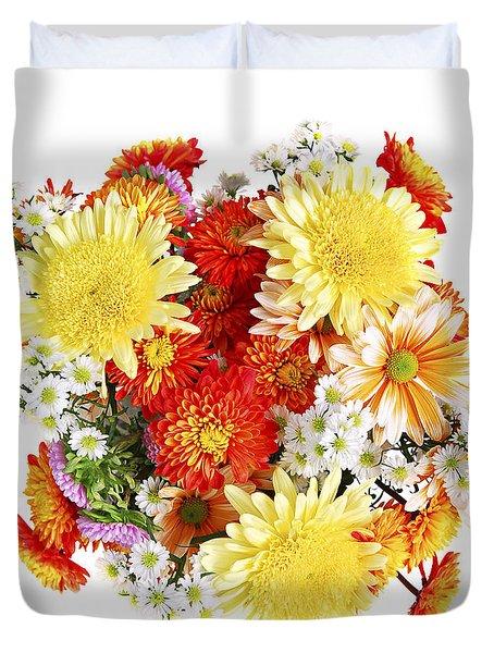 Flower bouquet Duvet Cover by Elena Elisseeva