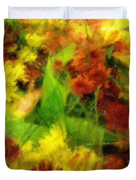 Flower Carnival Duvet Cover by Ayse Deniz