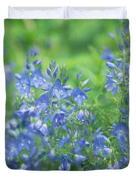Flower Frenzy Duvet Cover by Kim Hojnacki