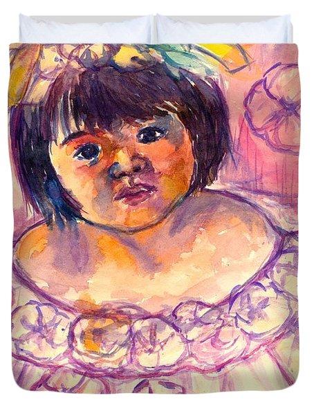 Flower Girl Duvet Cover by Kendall Kessler