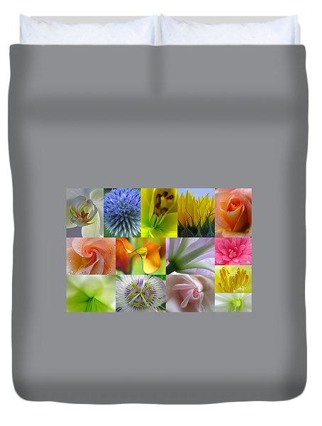 Flower Macro Photography Duvet Cover by Juergen Roth