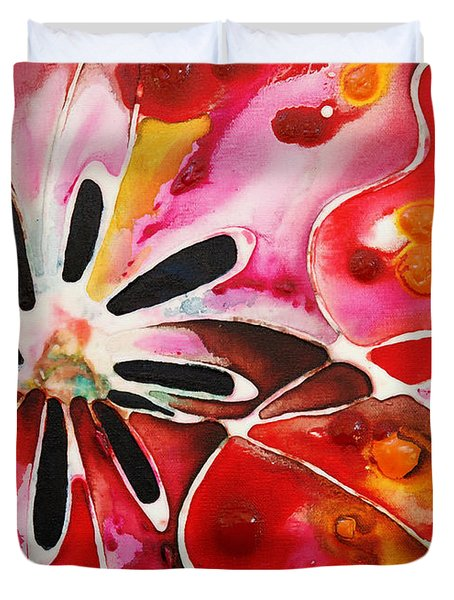 Flower Power - Abstract Floral By Sharon Cummings Duvet Cover by Sharon Cummings