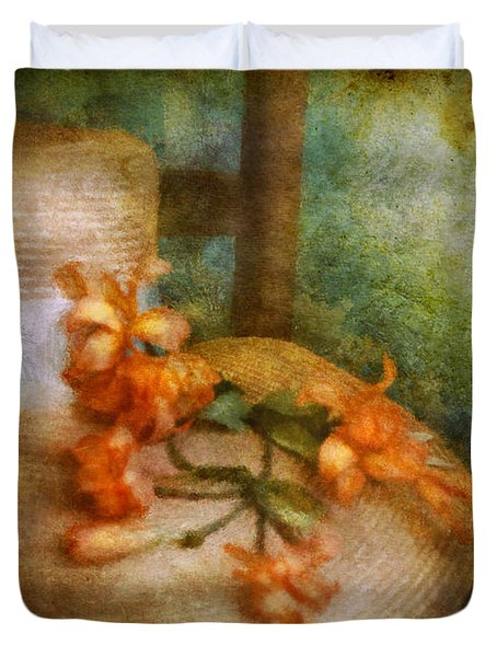 Flower - Still - Spring Fashion Duvet Cover by Mike Savad