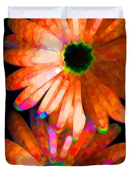 Flower Study 5 - Vibrant Orange By Sharon Cummings Duvet Cover by Sharon Cummings