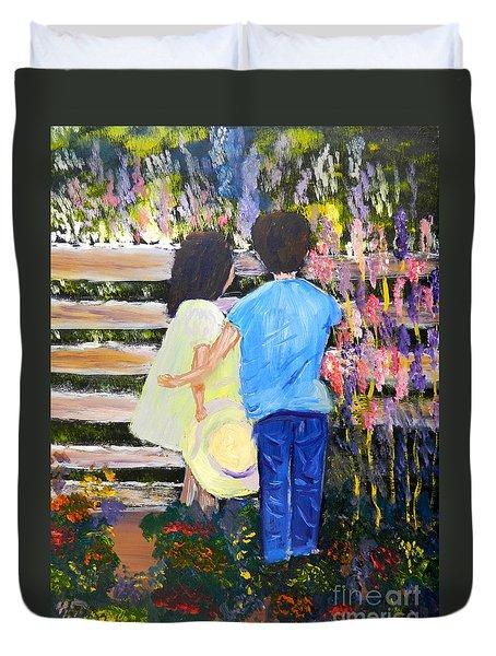 Flowers For Her Duvet Cover by Pamela  Meredith