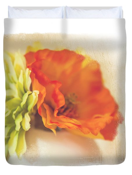 Flowers In Vase. Mini-idea For Interior Duvet Cover by Jenny Rainbow