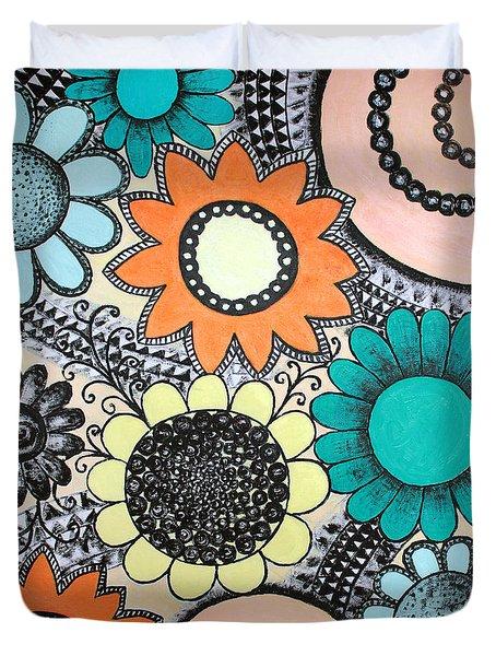 Flowers Paradise Duvet Cover by Home Art