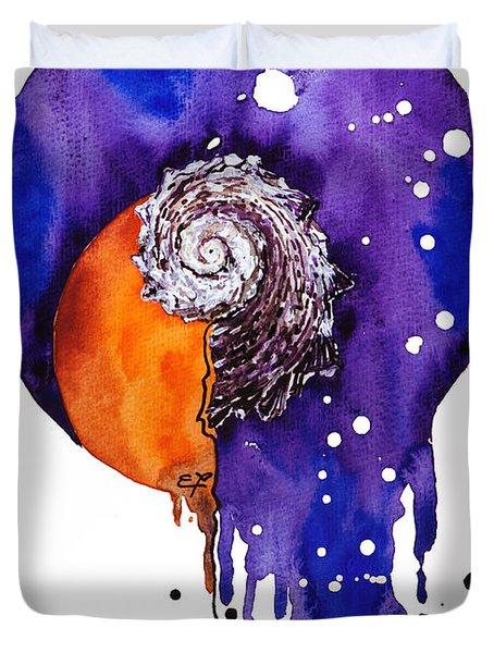 Fluidity 16 - Mollusc Shell - Elena Yakubovich Duvet Cover by Elena Yakubovich