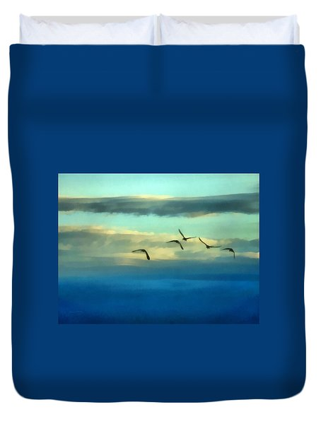 Fly Away Duvet Cover by Ernie Echols