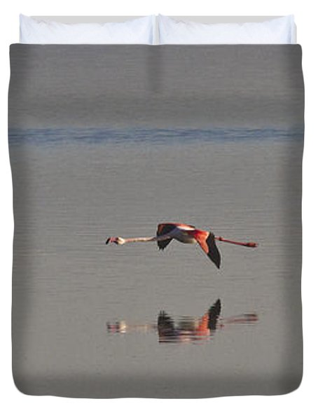 Fly Fly Away My Pretty Flamingo Duvet Cover by Heiko Koehrer-Wagner