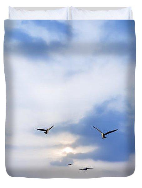 Fly To Freedom Duvet Cover by Setsiri Silapasuwanchai