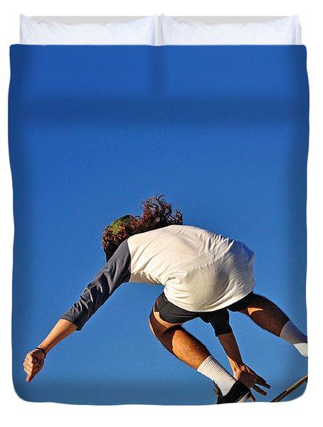 Flying High - Action Duvet Cover by Kaye Menner