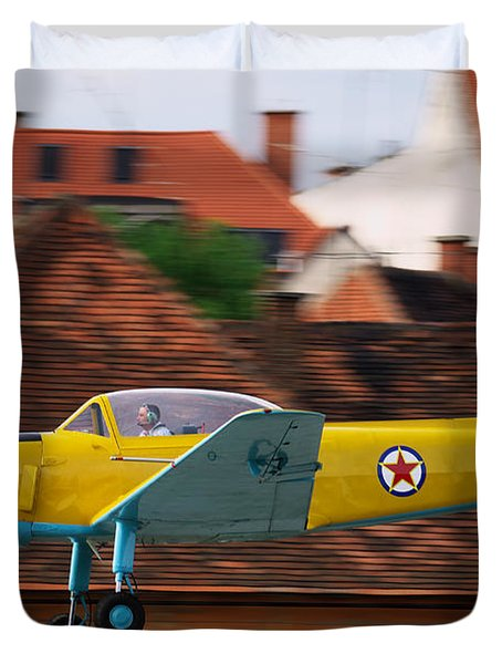Flying Low Duvet Cover by Ivan Slosar