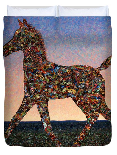 Foal Spirit Duvet Cover by James W Johnson