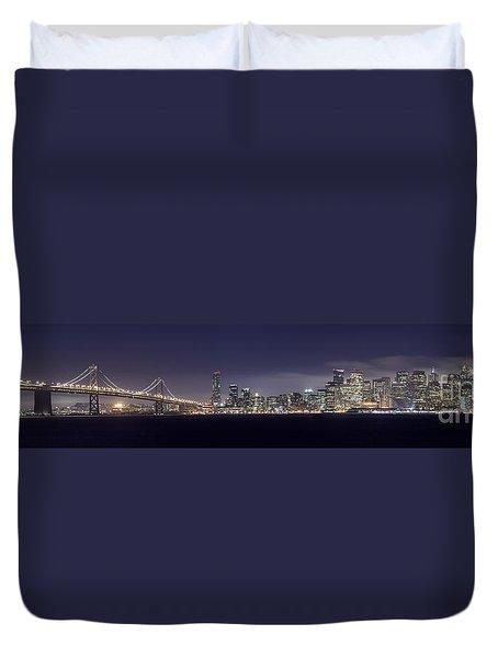 Fog City San Francisco Duvet Cover by Mike Reid