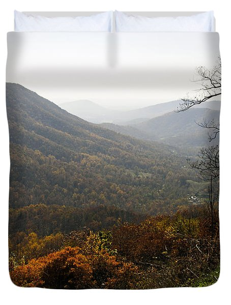 Foggy Fall Morning Duvet Cover by Lynn Bauer