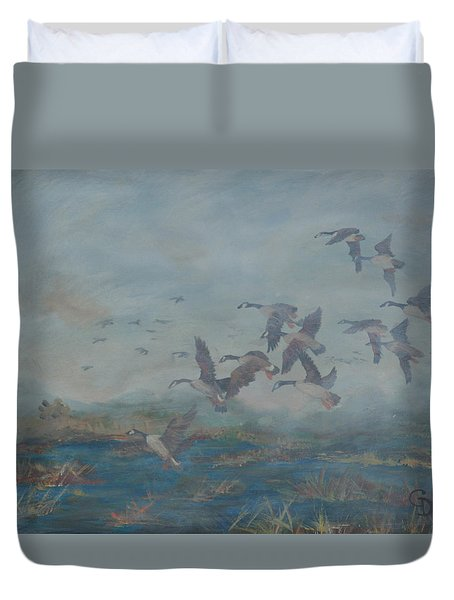 Foggy Morning Duvet Cover by Gail Daley