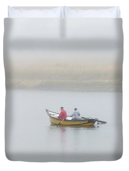 Foggy Nestucca Duvet Cover by Mike  Dawson