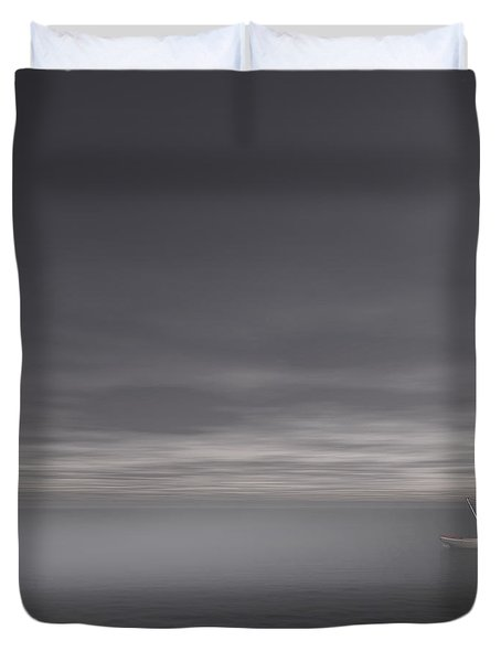 Foggy Stillness Duvet Cover by Lourry Legarde