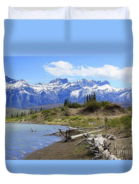 Following The Athabasca River Duvet Cover by Teresa Zieba