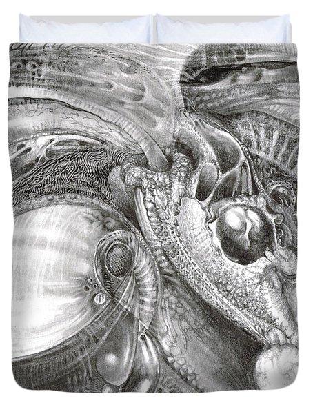 Fomorii Aliens Duvet Cover by Otto Rapp