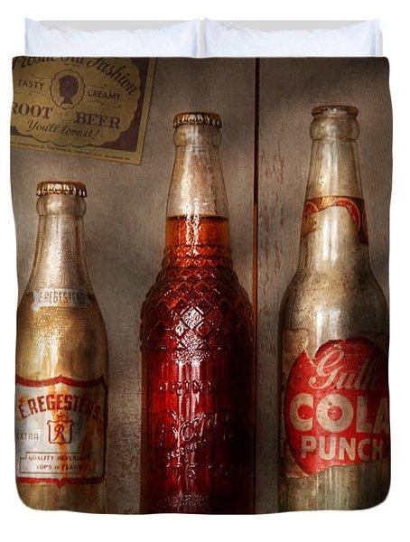 Food - Beverage - Favorite Soda Duvet Cover by Mike Savad