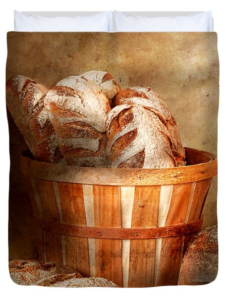 Food - Bread - Your daily bread Duvet Cover by Mike Savad