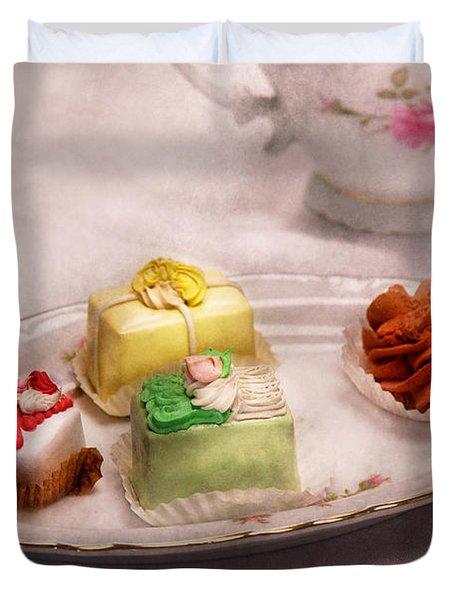 Food - Sweet - Cake - Grandma's treats  Duvet Cover by Mike Savad