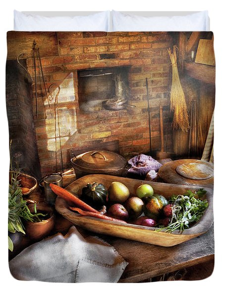 Food - The start of a healthy meal  Duvet Cover by Mike Savad