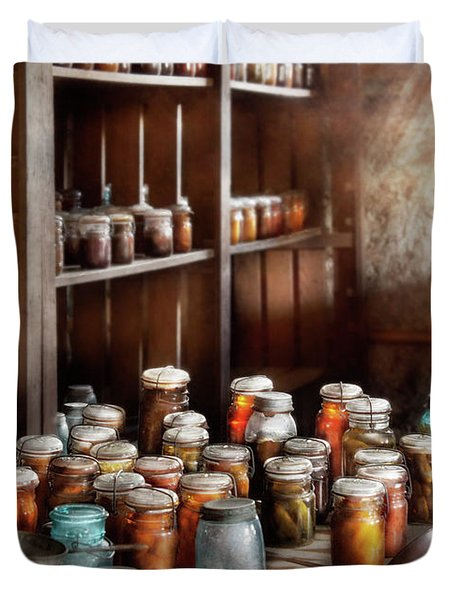 Food - The Winter Pantry  Duvet Cover by Mike Savad