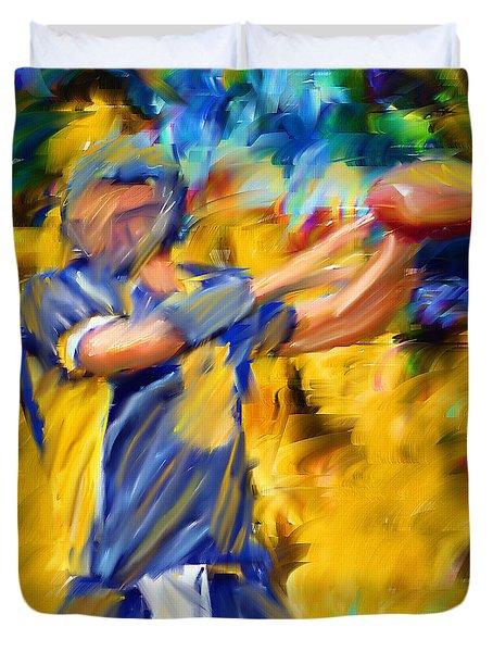 Football I Duvet Cover by Lourry Legarde