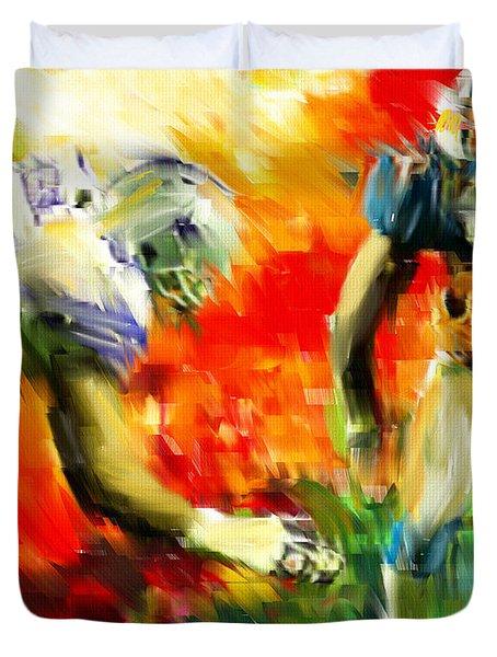 Football III Duvet Cover by Lourry Legarde