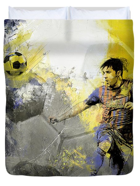 Football Player Duvet Cover by Catf