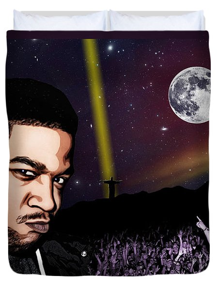 For even in hell - Kid Cudi Duvet Cover by Dancin Artworks