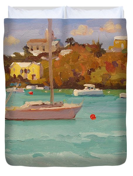 For Sail Duvet Cover by Dianne Panarelli Miller