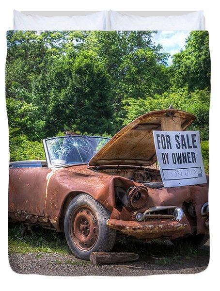 For Sale By Owner Duvet Cover by Rick Kuperberg Sr