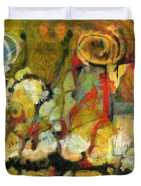 For Your Eyes Only Abstract Art Duvet Cover by Blenda Studio