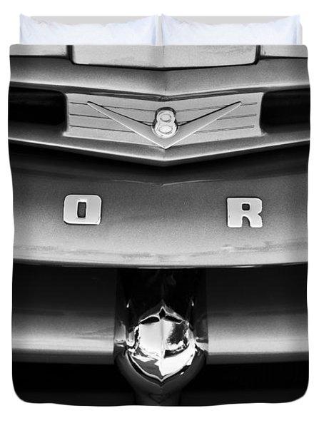 Ford F-1 Pickup Truck Grille Emblem Duvet Cover by Jill Reger